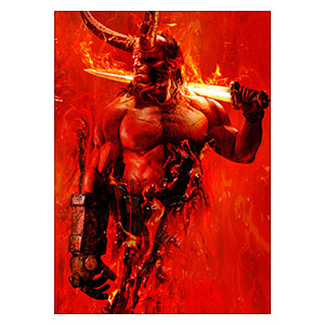 Хардпостер (на твёрдой основе) Hellboy. Размер: 50 х 70 см